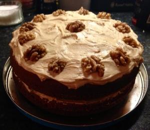 Coffee & Walnut Layer Cake, Nigella Lawson's 'Kitchen'