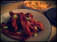 Chinese-Style Ribs with Coleslaw