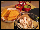 Fish Tacos with Pepper and Spring Onion Salsa and Homemade Guacamole