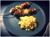 Lemon Chicken and Courgette Skewers