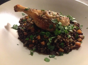 Roast Duck Legs & Lentils with Red Wine, Rachel Allen