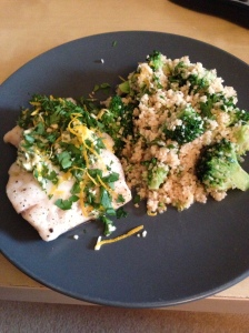 Cod with Garlic Butter and Gremolata, Delicious Magazine June 2013