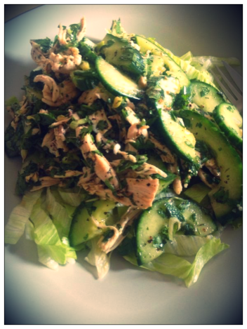 Lime Chicken Salad, Szechuan Style