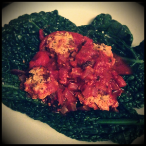 Lo Lo Meatballs with Cavolo Nero, The Fast Diet Recipe Book