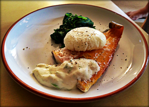 Smoked Haddock with Spinach and Poached Egg, The Fast Diet Recipe Book