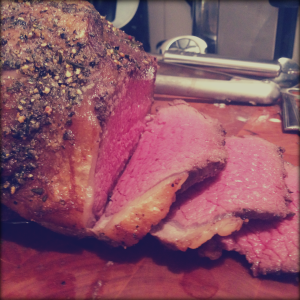 Slow-Roast Beef with a Pepper & Rosemary Crust, Delicious Magazine January 2014