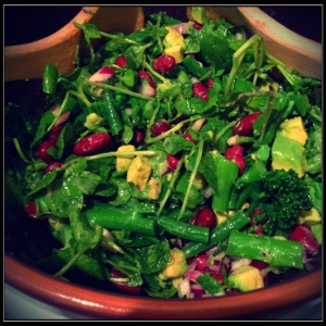 Beans and Greens Salad, Olive Magazine April 2014